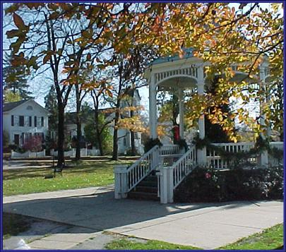 Ceremonies may be performed and photos may be taken in the town square gazebo in front of the church subject to availability.